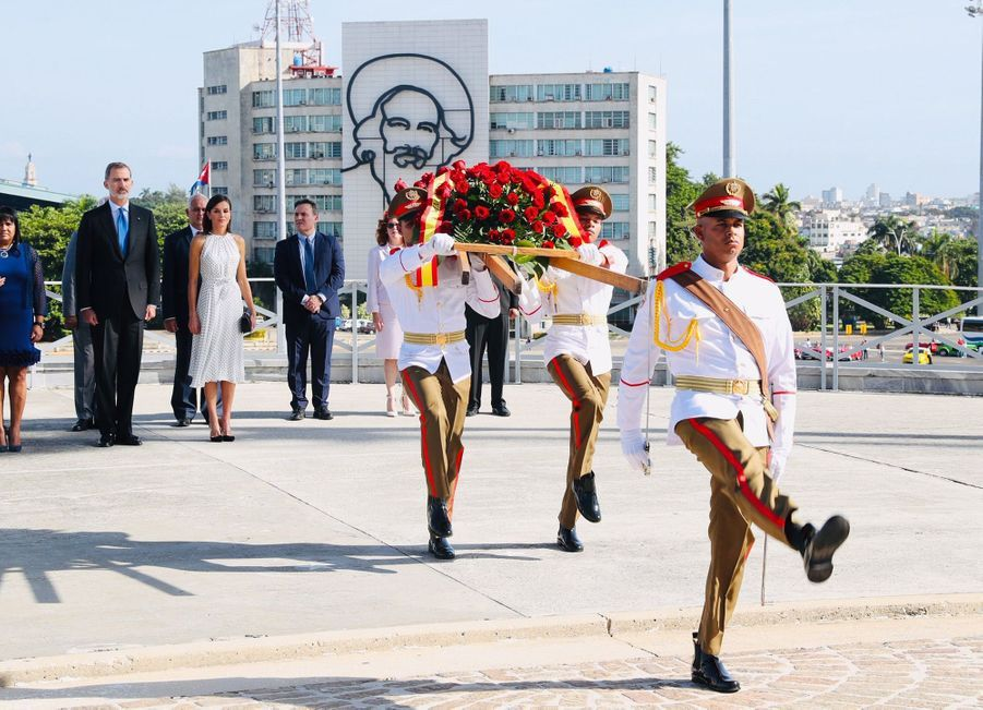 La reine Letizia et le roi Felipe VI d'Espagne en visite d'Etat à La Havane, le 12 novembre 2019