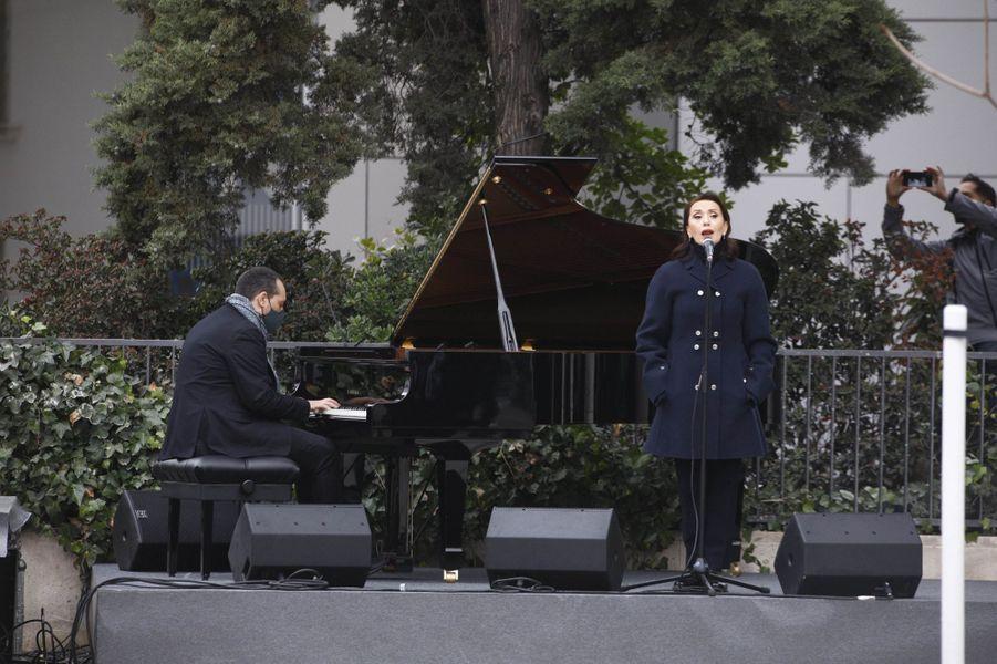 La chanteuse Luz Casal à Madrid, le 18 décembre 2020