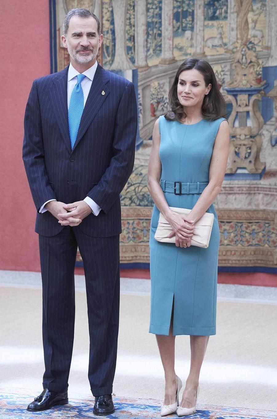 Le roi Felipe VI et la reine Letizia d'Espagne à Madrid, le 26 juin 2019