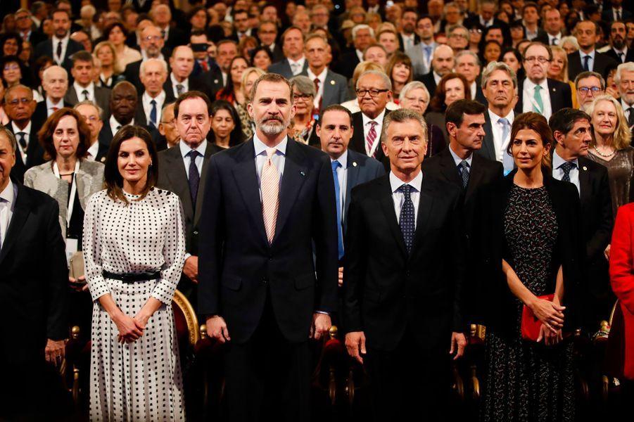 La reine Letizia et le roi Felipe VI d'Espagne avec le couple présidentiel argentin à Cordoba en Argentine, le 27 mars 2019