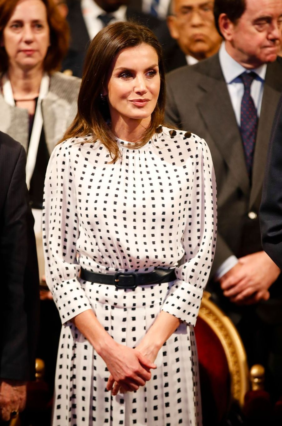 La reine Letizia d'Espagne à Cordoba en Argentine, le 27 mars 2019