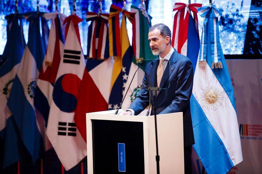 Le roi Felipe VI d'Espagne à Cordoba en Argentine, le 27 mars 2019