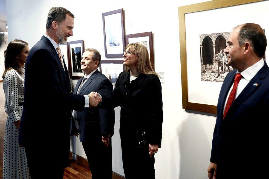 La reine Letizia et le roi Felipe VI d'Espagne à Cordoba en Argentine, le 27 mars 2019