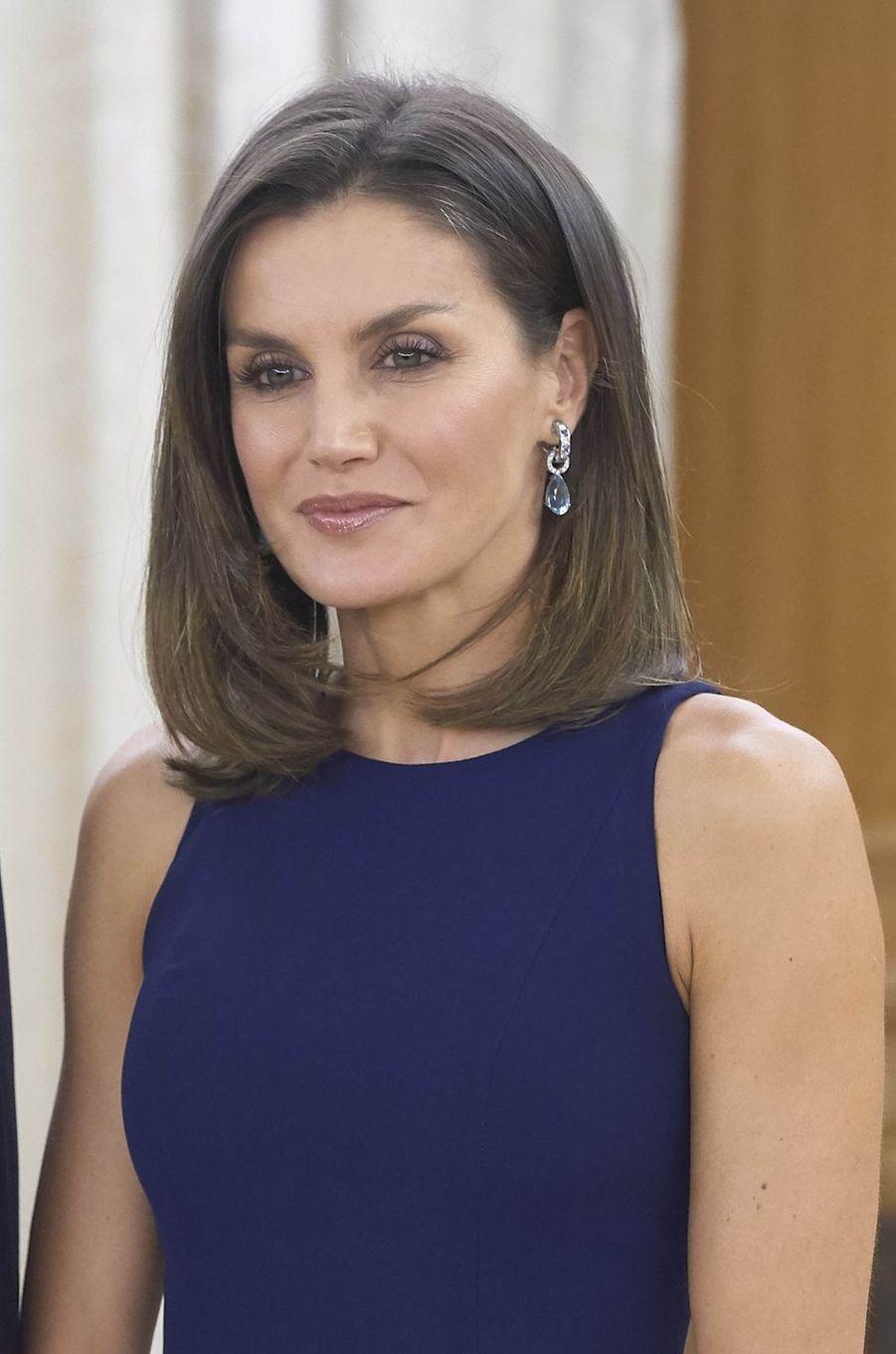 La reine Letizia d'Espagne à Madrid, le 27 novembre 2018