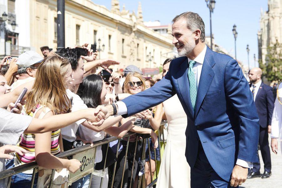 Le roi Felipe VI d'Espagne à Séville, le 12 septembre 2019