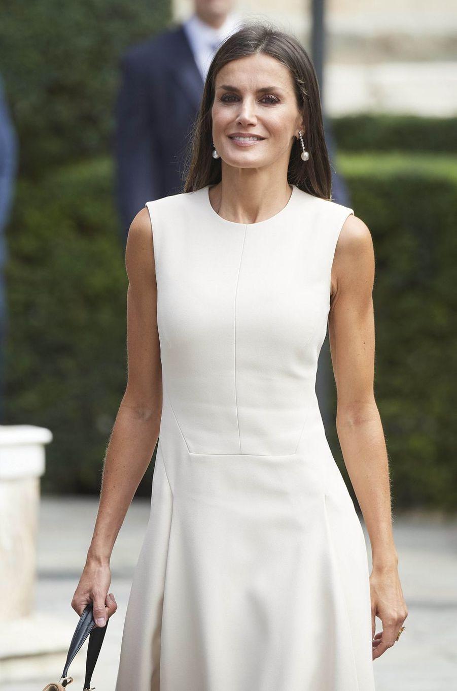 La reine Letizia d'Espagne à Séville, le 12 septembre 2019