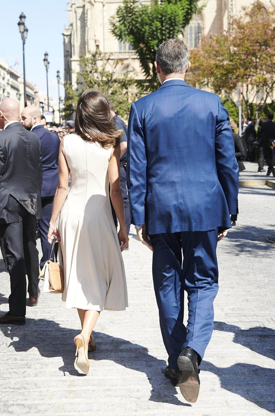 La reine Letizia et le roi Felipe VI d'Espagne à Séville, le 12 septembre 2019