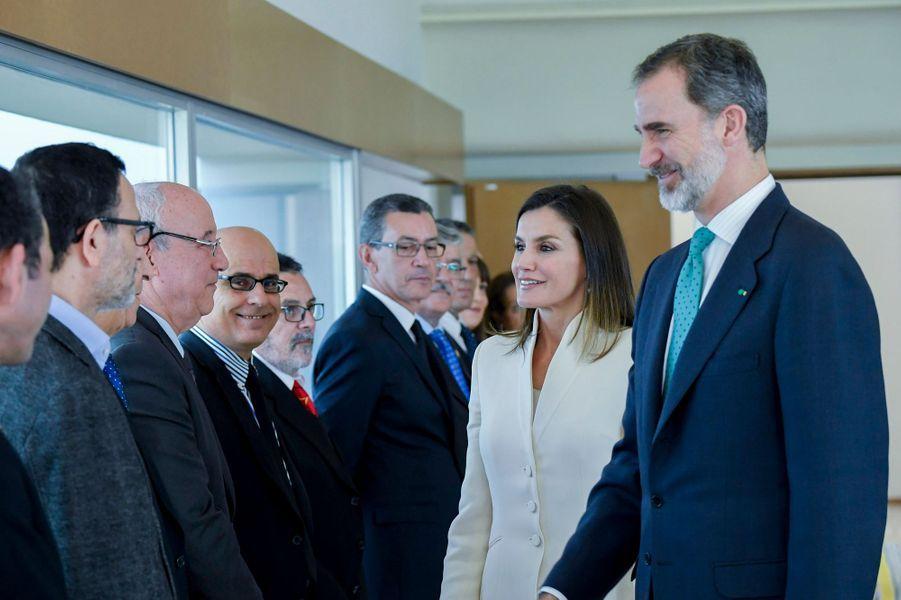La reine Letizia et le roi Felipe VI d'Espagne à Rabat, le 14 février 2019