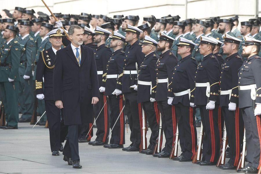 Le roi Felipe VI d'Espagne à Madrid, le 3 février 2020