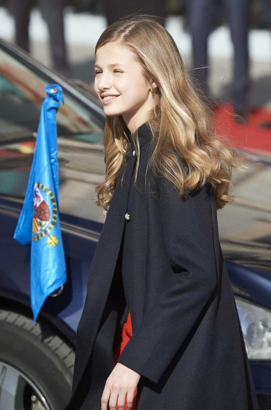 La princesse Leonor d'Espagne à Madrid, le 3 février 2020