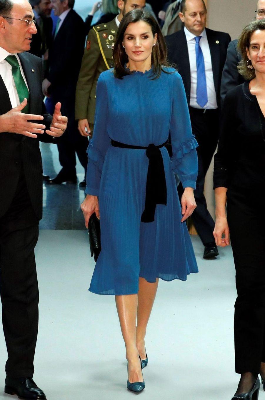 La reine Letizia d'Espagne, le 31 janvier 2019 à Madrid