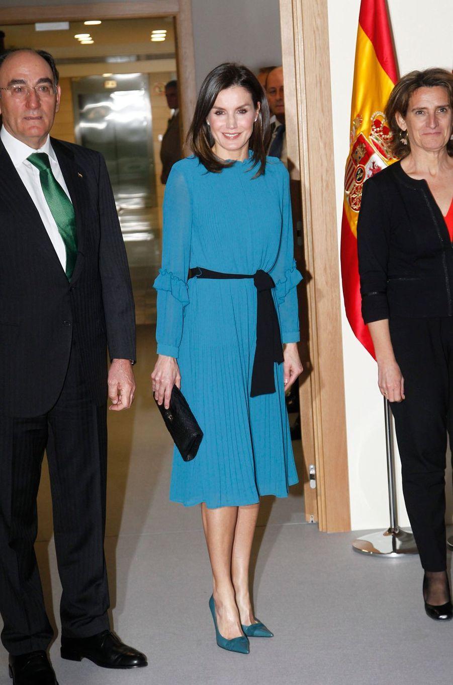 La reine Letizia d'Espagne, à Madrid, le 31 janvier 2019