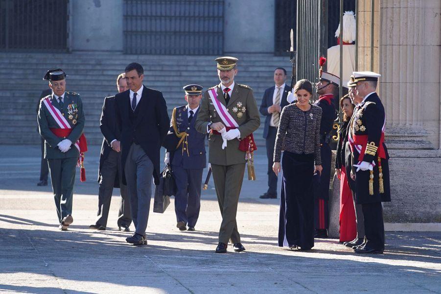 La reine Letizia et le roi Felipe VI d'Espagne, le 6 janvier 2019 à Madrid