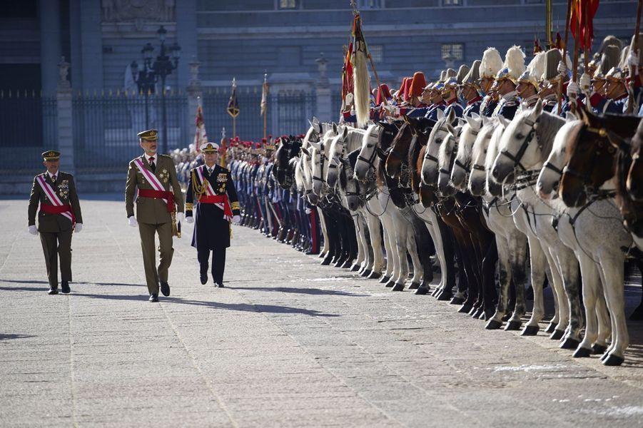 Le roi Felipe VI d'Espagne à Madrid, le 6 janvier 2019
