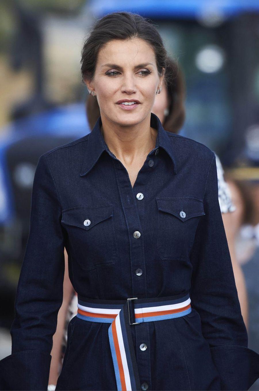 La reine Letizia d'Espagne à Salamanque, le 5 septembre 2018