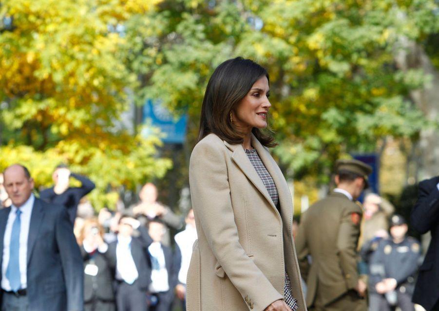 La reine Letizia d'Espagne à Madrid, le 19 novembre 2018