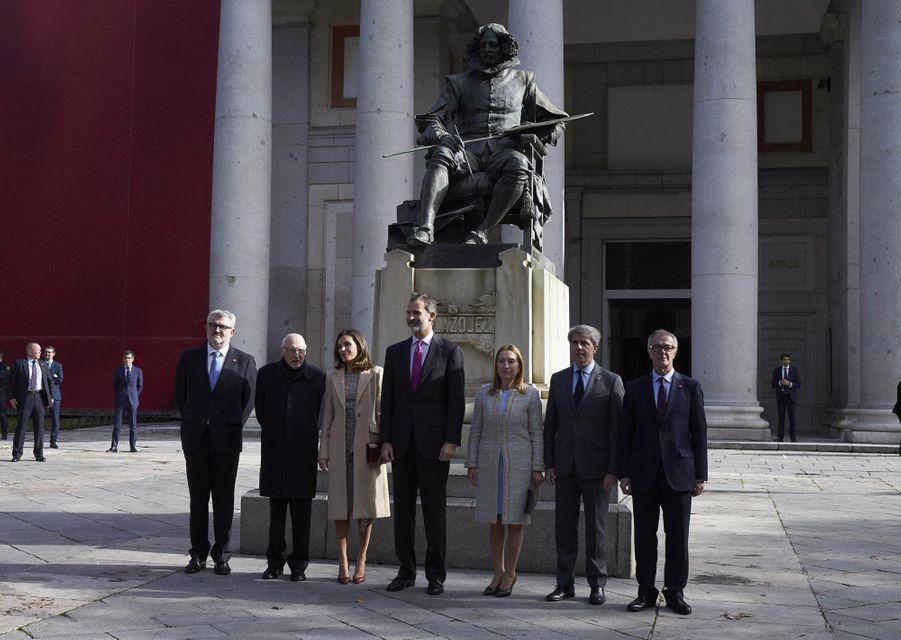 La reine Letizia et le roi Felipe VI d'Espagne à Madrid, le 19 novembre 2018