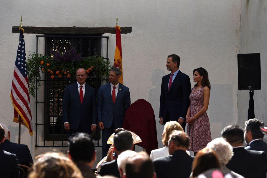 La reine Letizia et le roi Felipe VI d'Espagne à San Antonio au Texas, le 17 juin 2018