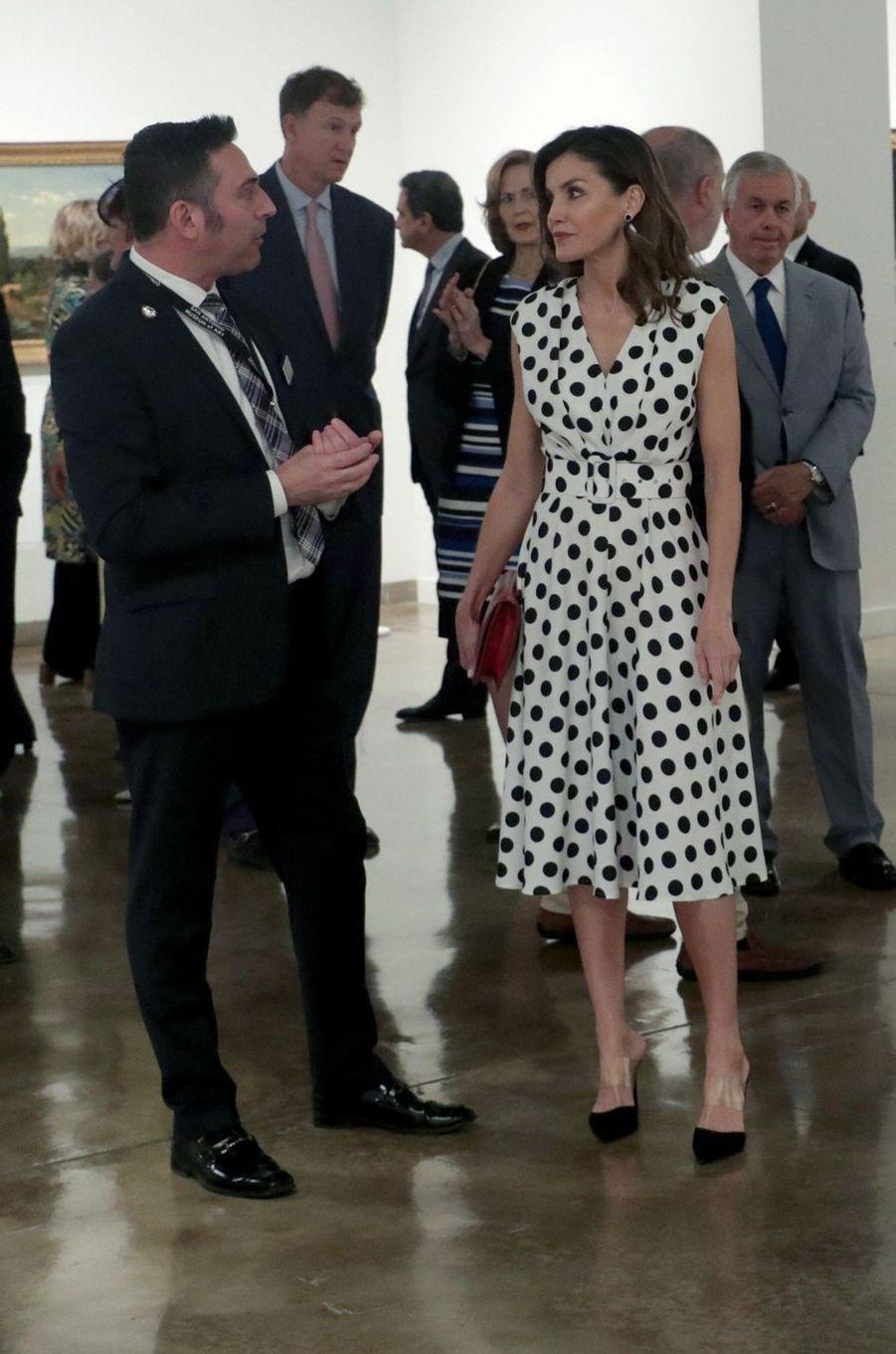 La reine Letizia d'Espagne à San Antonio, le 18 juin 2018