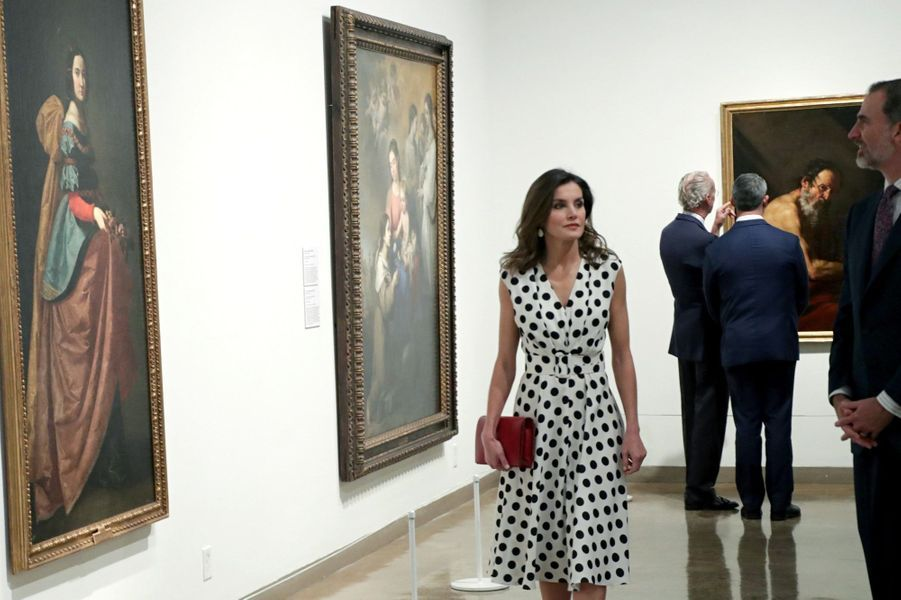 La reine Letizia et le roi Felipe VI d'Espagne à San Antonio, le 18 juin 2018