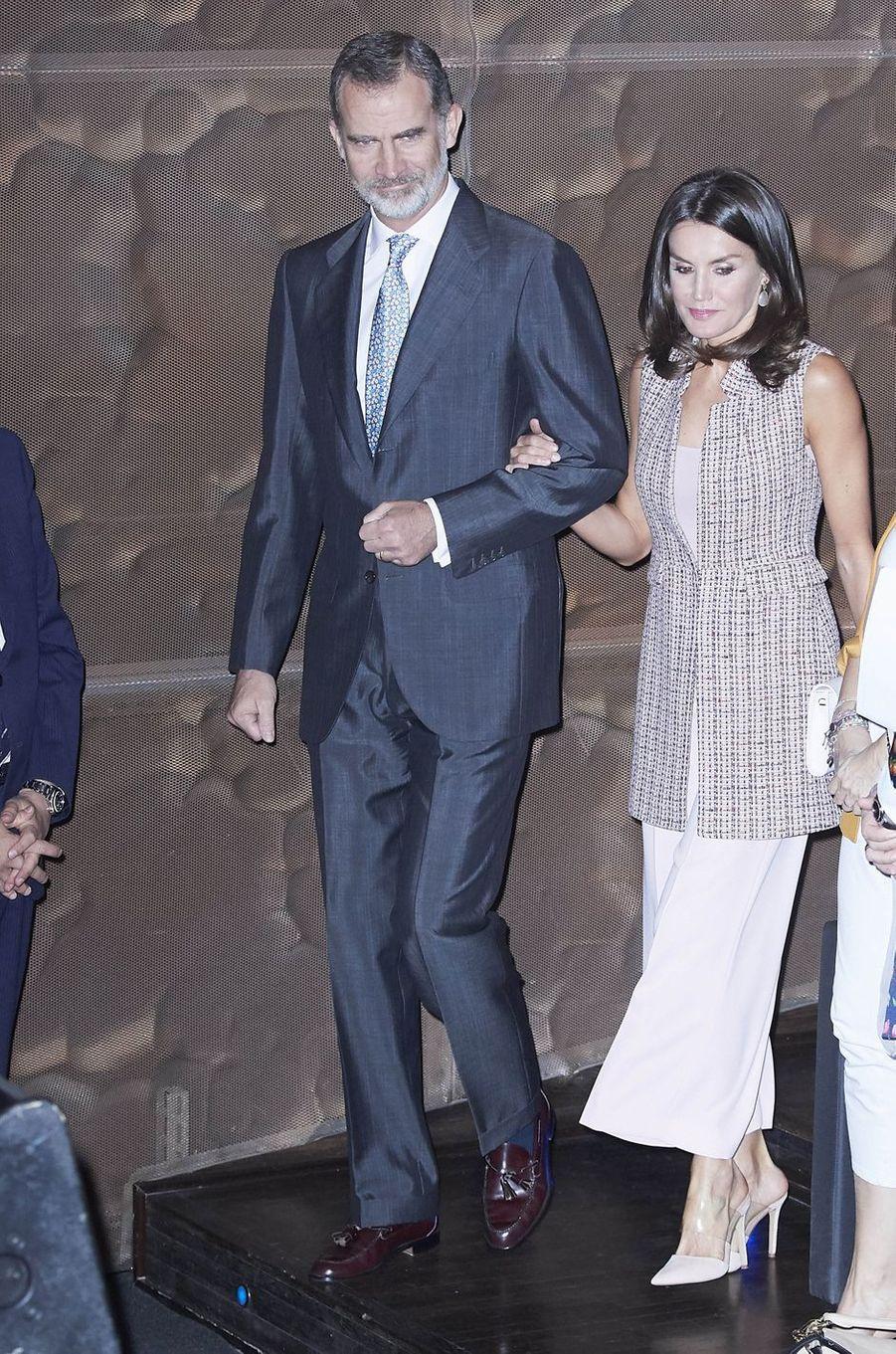 Le roi Felipe VI et la reine Letizia d'Espagne à Madrid, le 28 mai 2019