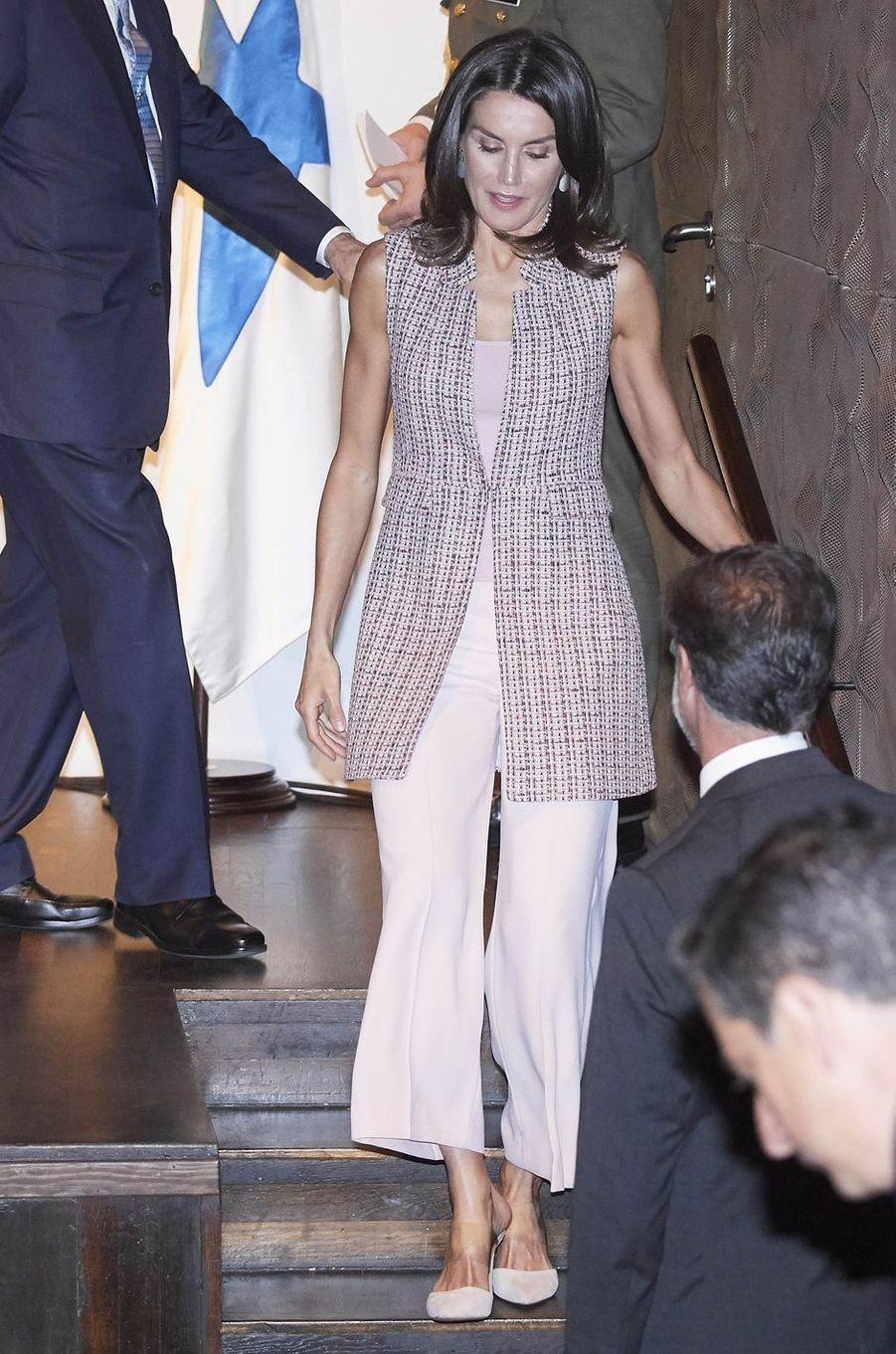 La reine Letizia d'Espagne à Madrid, le 28 mai 2019