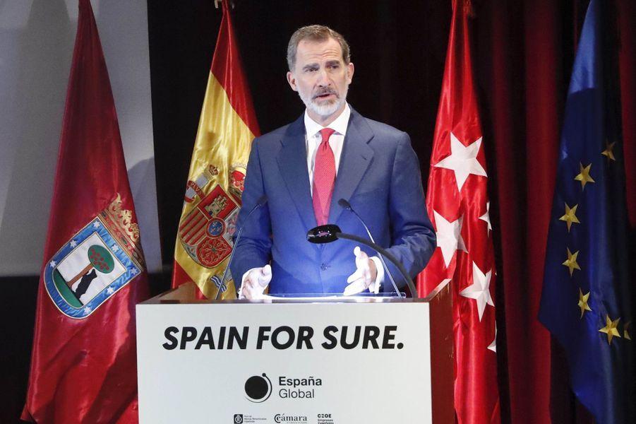 Le roi Felipe VI d'Espagne au Musée du Prado à Madrid, le 18 juin 2020