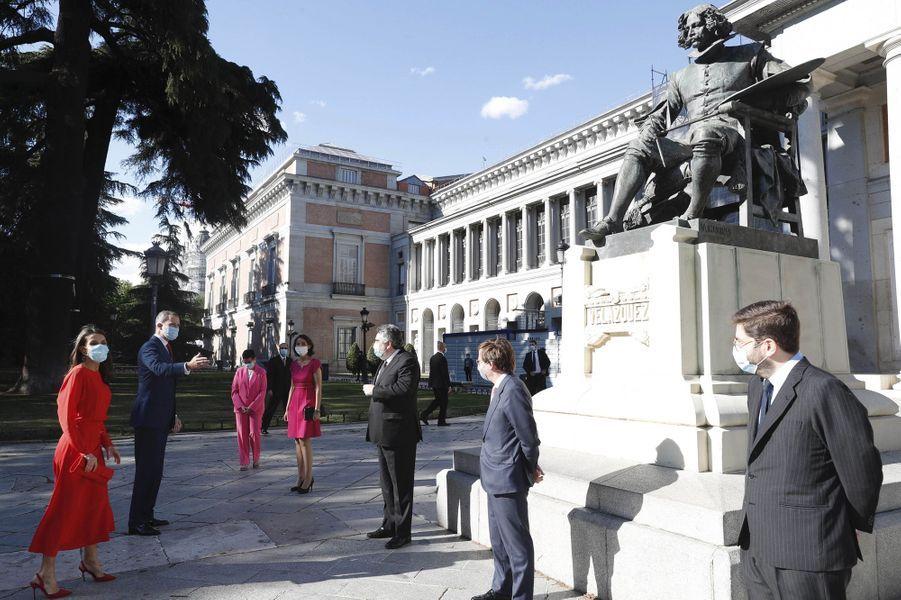 La reine Letizia et le roi Felipe VI d'Espagne, le 18 juin 2020 à Madrid