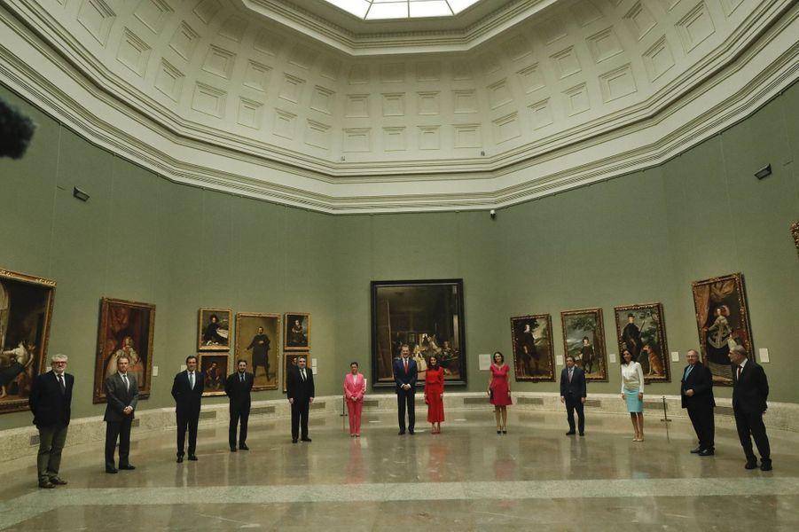 Le roi Felipe VI d'Espagne et la reine Letizia au Musée du Prado à Madrid, le 18 juin 2020