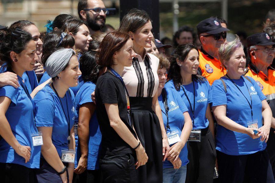 La reine Letizia d'Espagne à Benidorm, le 27 juin 2018