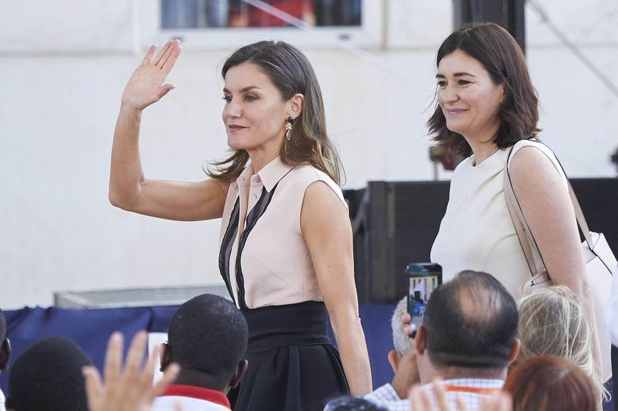 La reine Letizia d'Espagne à Benidorm près d'Alicante, le 27 juin 2018
