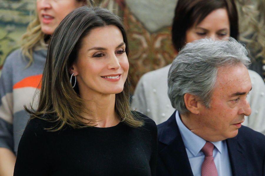La reine Letizia d'Espagne à Madrid, le 18 janvier 2019