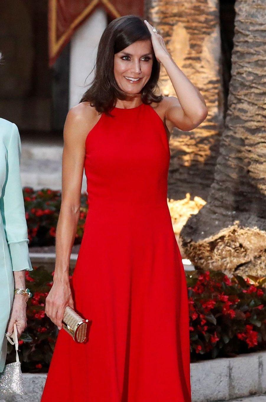 La reine Letizia d'Espagne à Palma de Majorque, le 7 août 2019