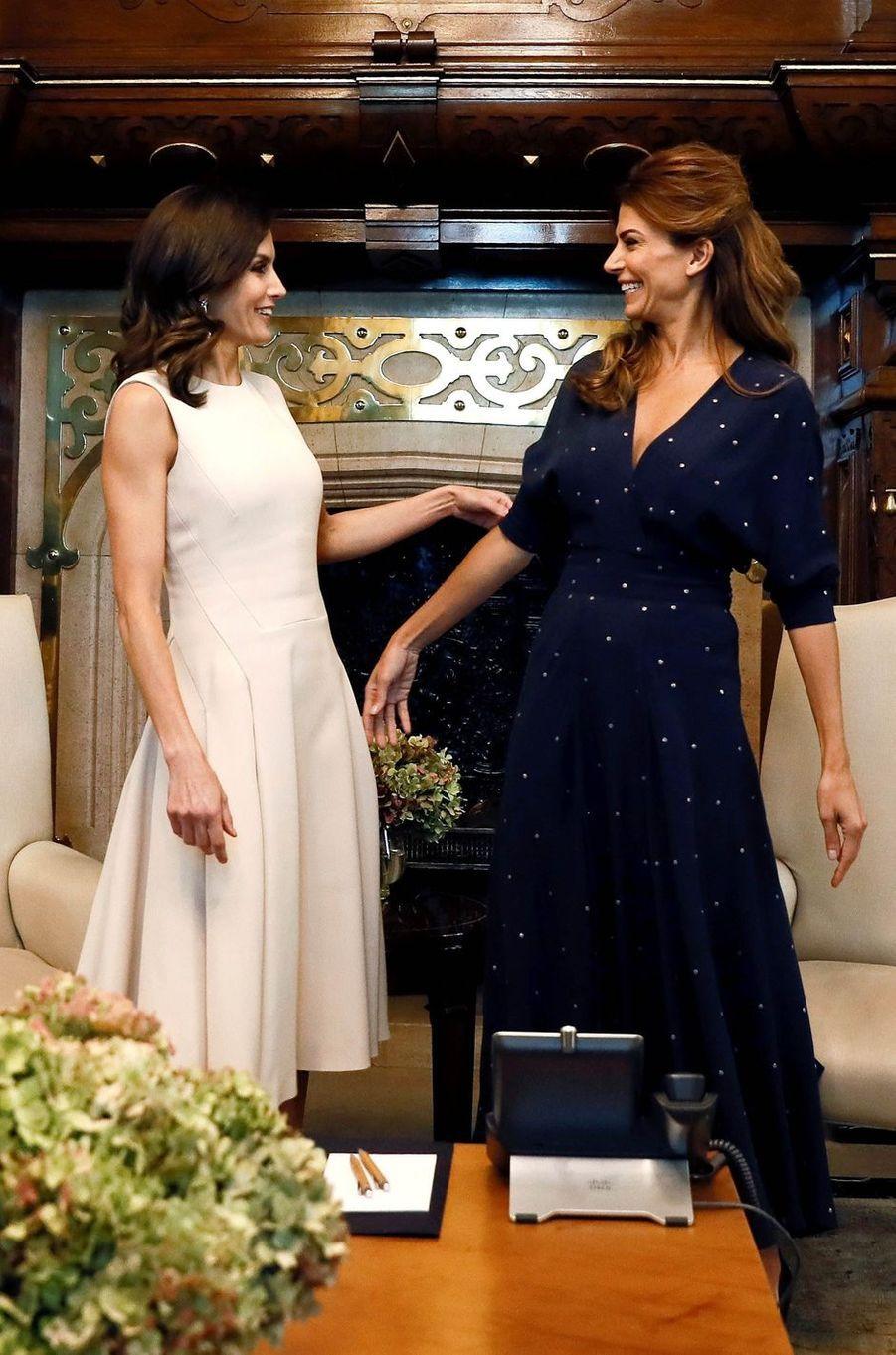 La reine Letizia d'Espagne et la First Lady d'Argentine Juliana Awada à Buenos Aires, le 25 mars 2019