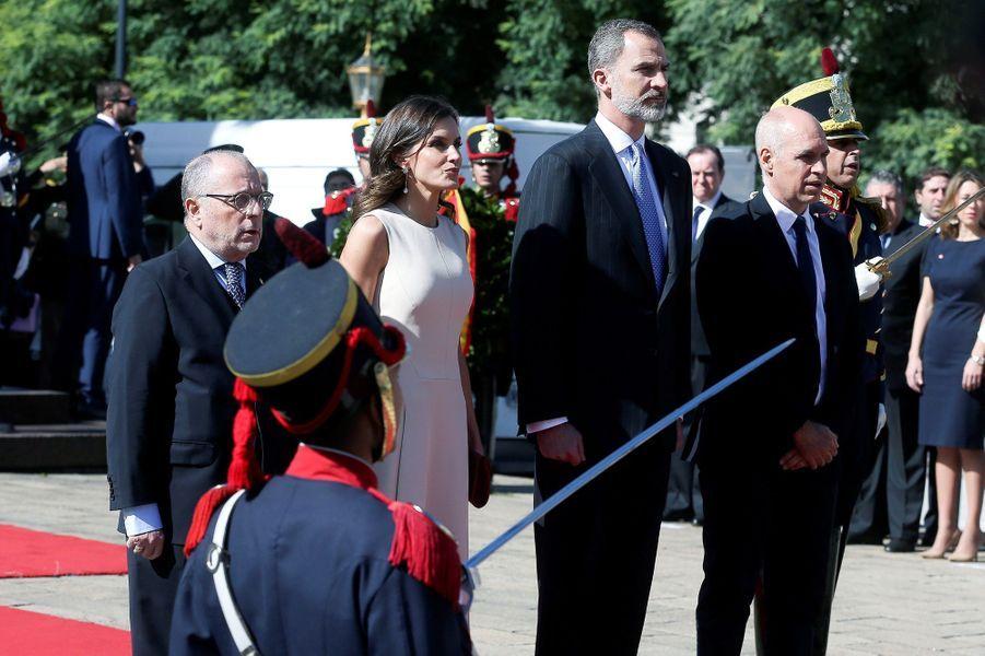 La reine Letizia et le roi Felipe VI d'Espagne à Buenos Aires, le 25 mars 2019