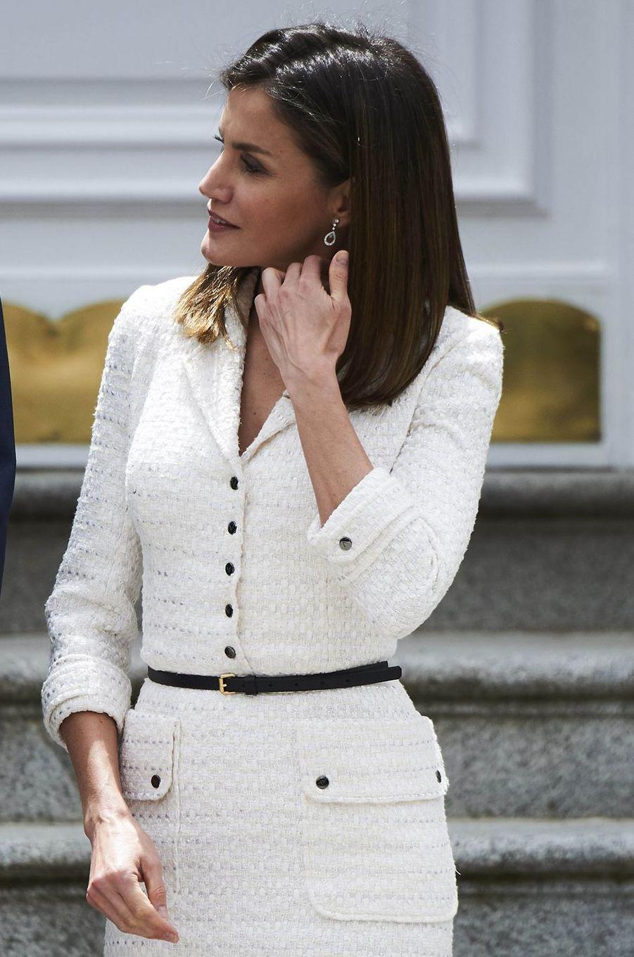 La reine Letizia d'Espagne à Madrid, le 14 mai 2018