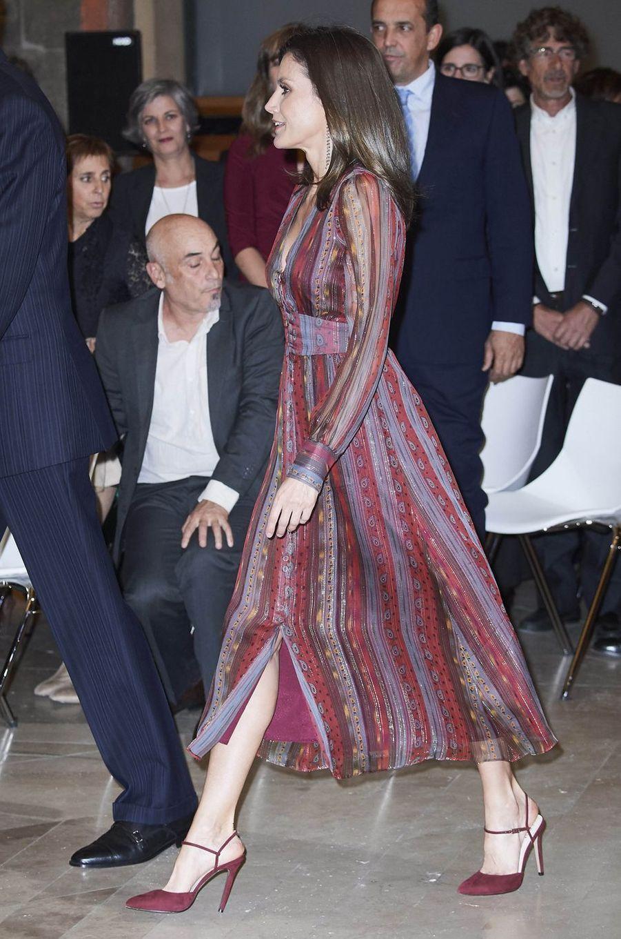 La reine Letizia d'Espagne à Madrid, le 19 mars 2019