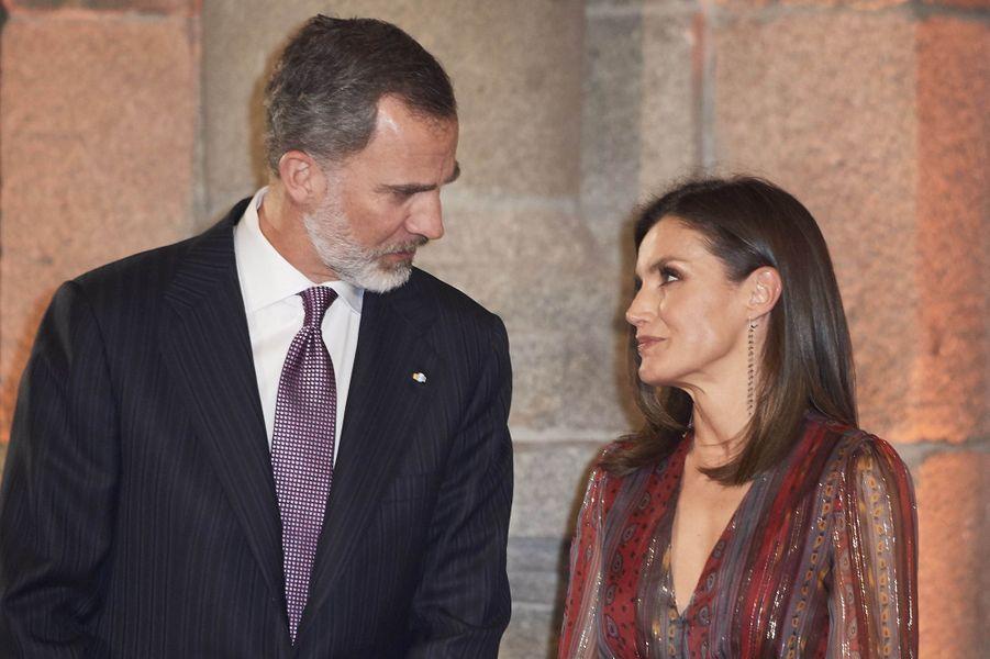 La reine Letizia et le roi Felipe VI d'Espagne à Madrid, le 19 mars 2019