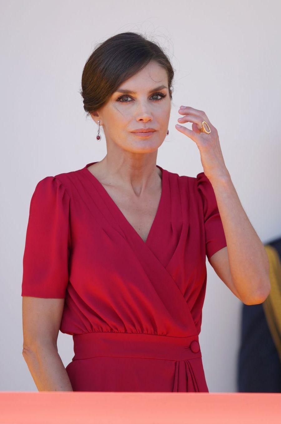 La reine Letizia d'Espagne à Séville, le 1er juin 2019