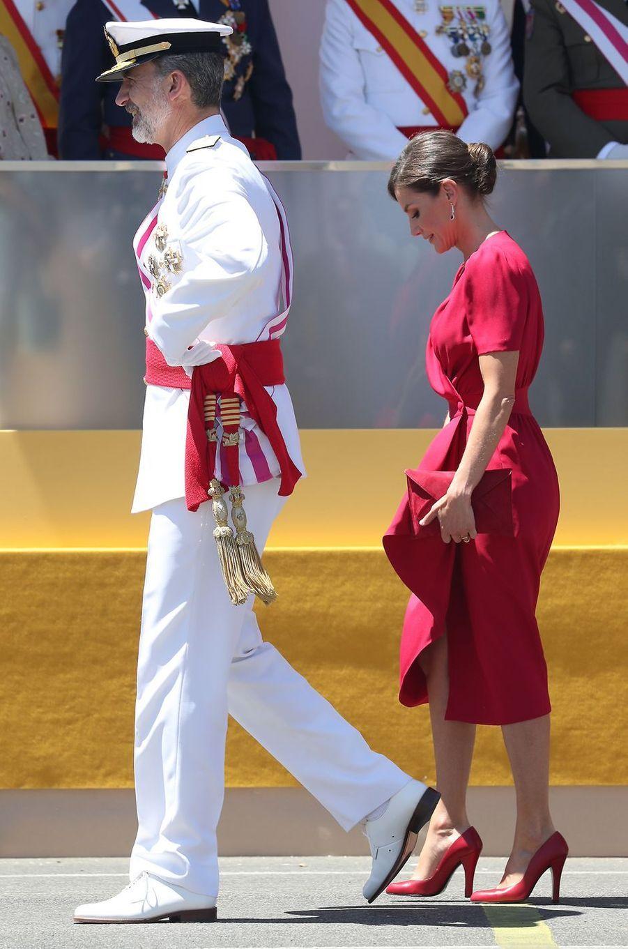 La reine Letizia et le roi Felipe VI d'Espagne à Séville, le 1er juin 2019
