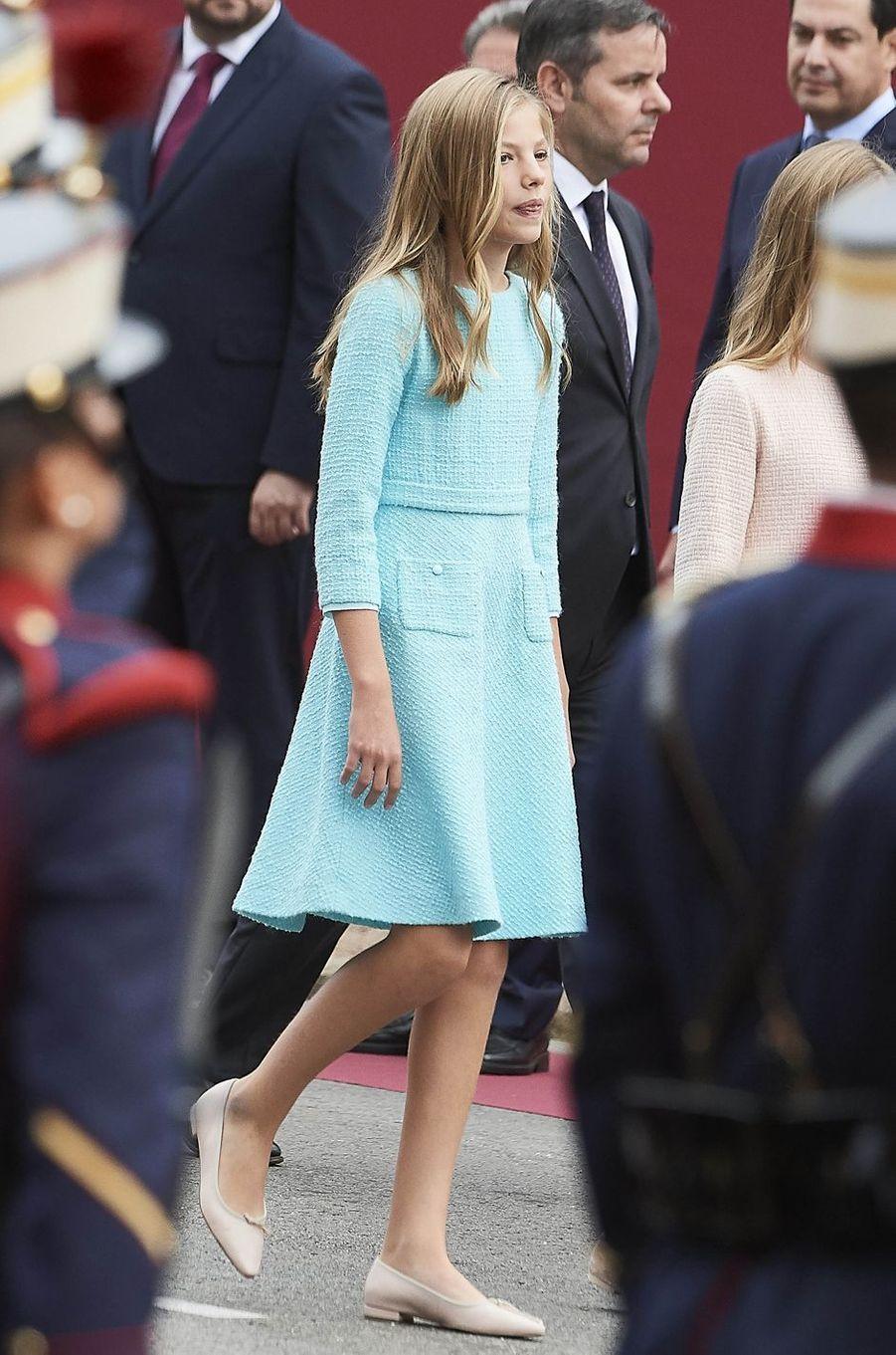 La princesse Sofia d'Espagne à Madrid, le 12 octobre 2019