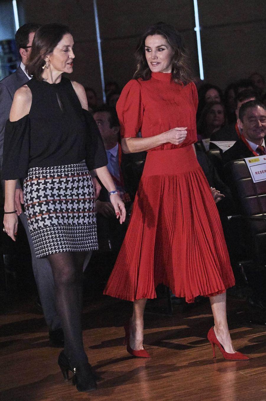 La reine Letizia d'Espagne à Madrid, le 19 décembre 2018