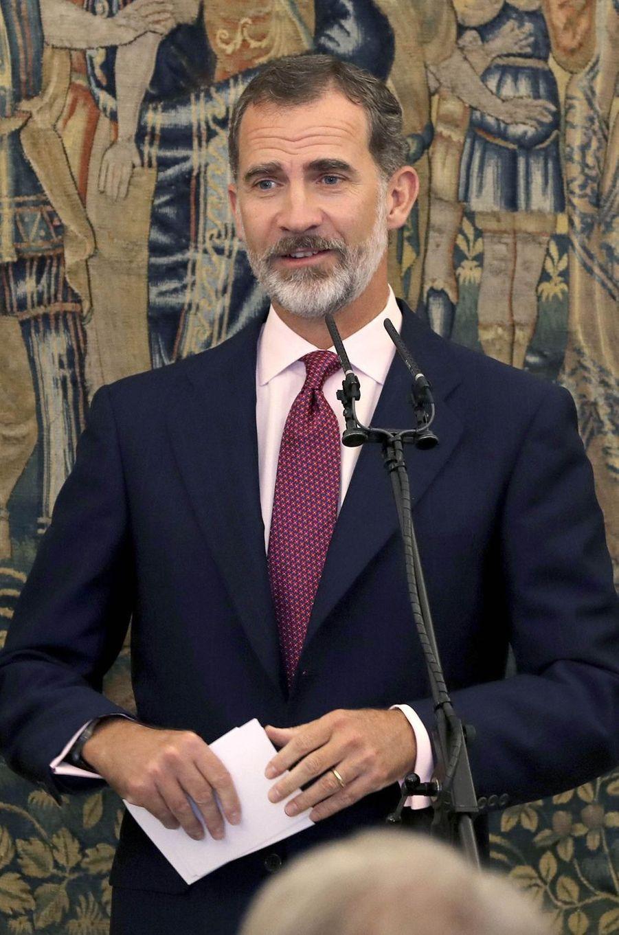 Le roi Felipe VI d'Espagne à Aranjuez, le 8 octobre 2018