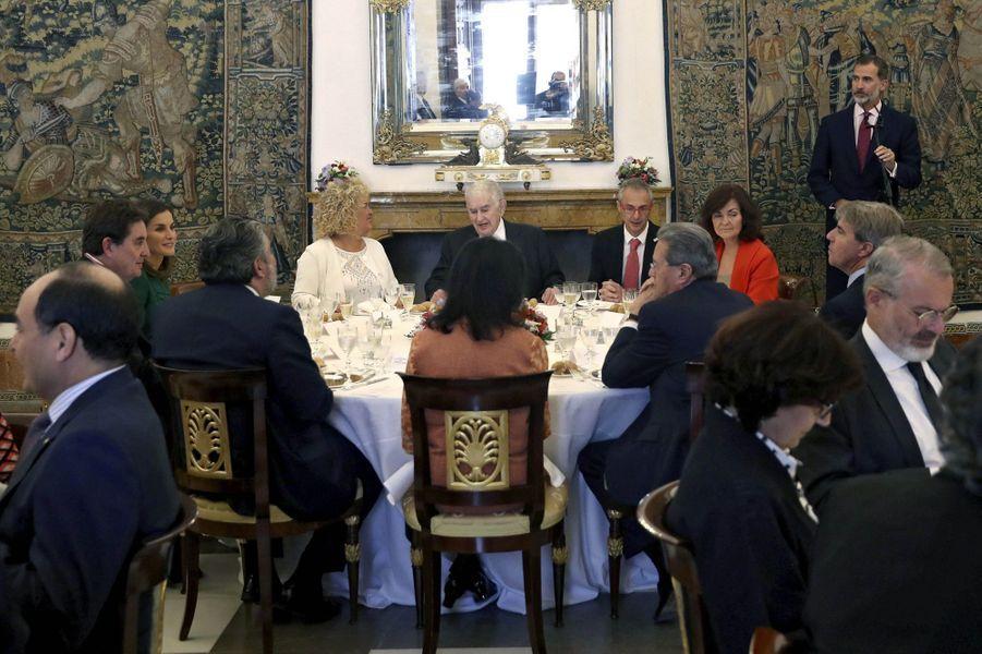 La reine Letizia et le roi Felipe VI d'Espagne à Aranjuez, le 8 octobre 2018