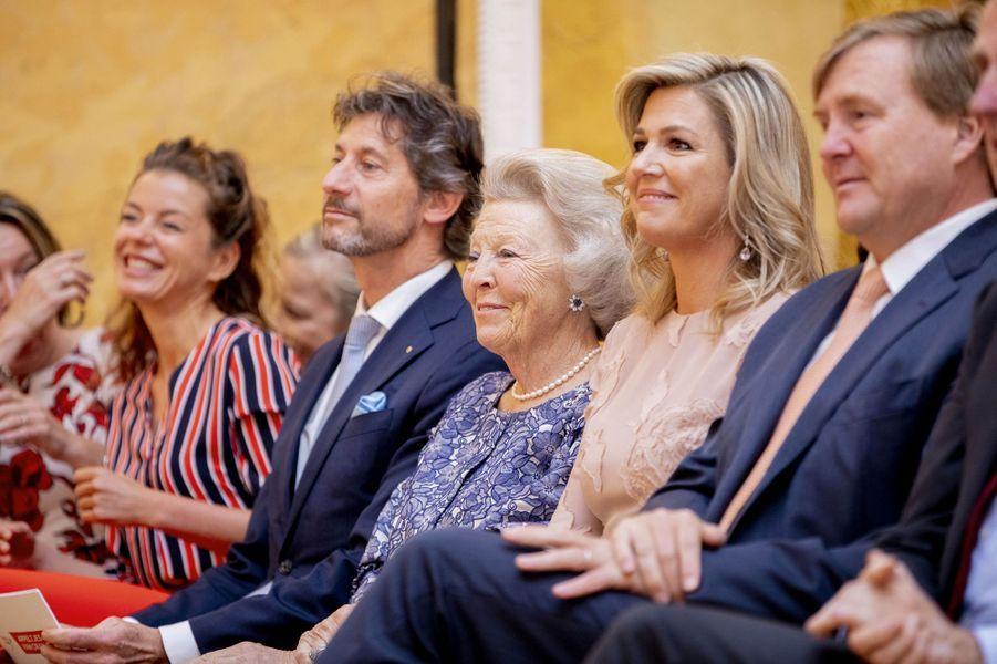 La reine Maxima, le roi Willem-Alexander et la princesse Beatrix des Pays-Bas à La Haye, le 23 mai 2019