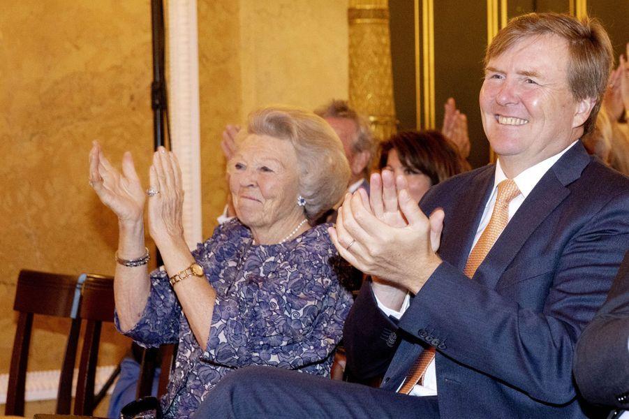 Le roi Willem-Alexander et la princesse Beatrix des Pays-Bas à La Haye, le 23 mai 2019