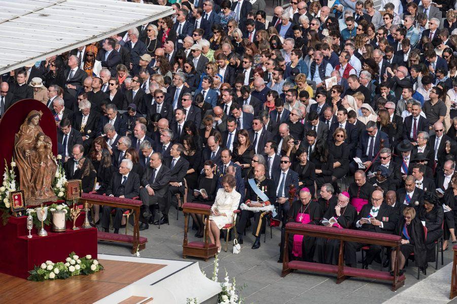 L'ancienne reine Sofia d'Espagne au Vatican pour la canonisation de Paul VI, le 14 octobre 2018