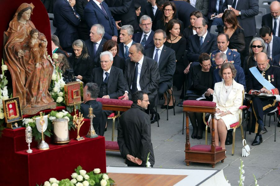 L'ancienne reine Sofia d'Espagne au Vatican pour la canonisation de Paul VI par le pape François, le 14 octobre 2018
