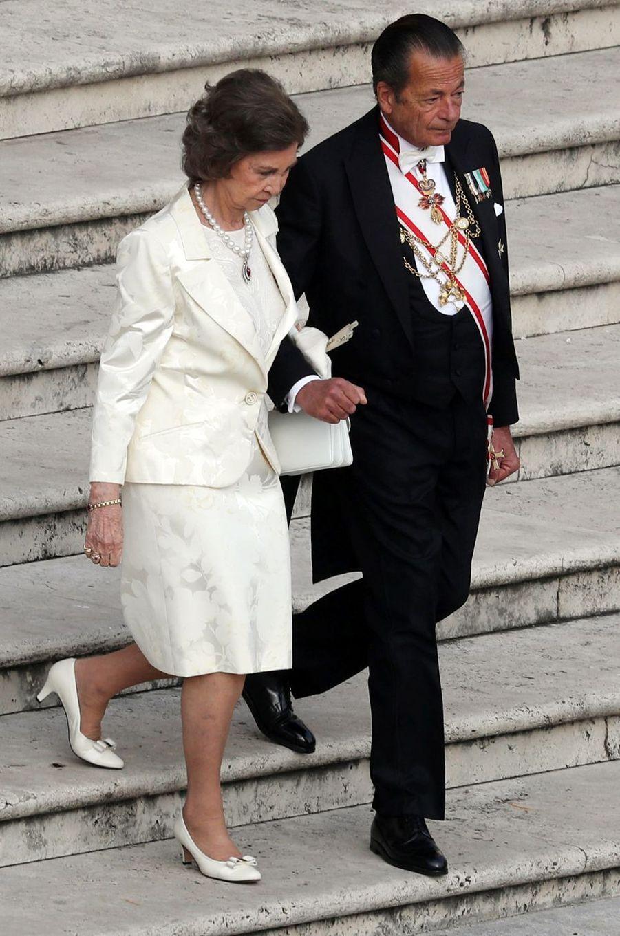 L'ancienne reine Sofia d'Espagne dans la cité du Vatican, le 14 octobre 2018