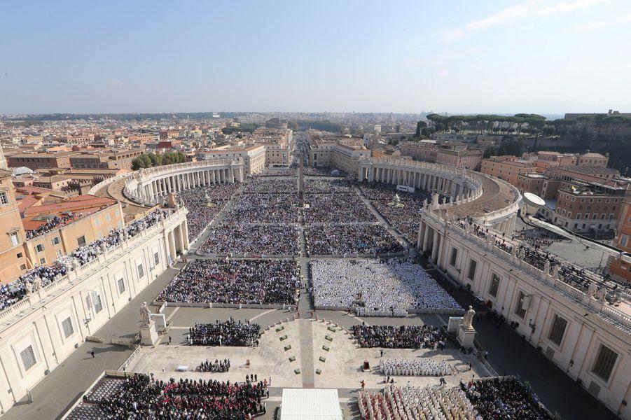 Canonisation de Paul VI par le pape François à Rome, le 14 octobre 2018